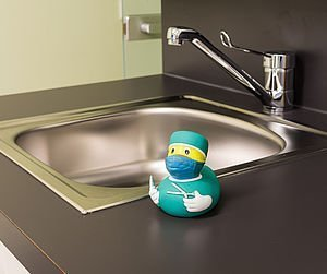 Waschbereich vor Operationen | Zukriegel